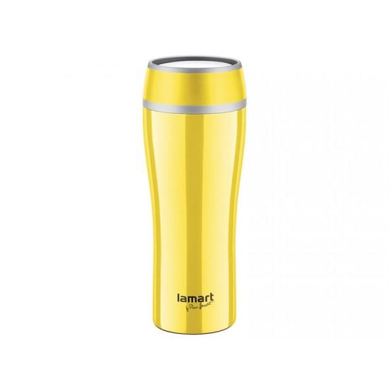 Termohrnček LAMART LT4027 0,4L FLAC žltý