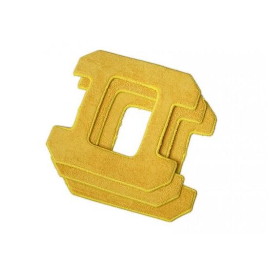 Utierky z mikrovlákna 3ks pre HOBOT 268, 288 na vlhké čistenie žlté