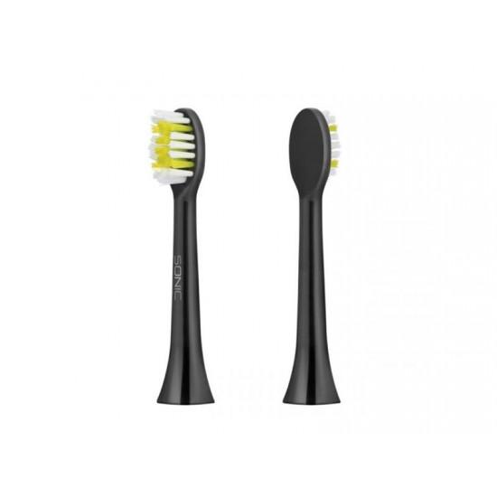 Hlavica pre zubné kefky TEESA SONIC čierna 2ks v blistri, mäkká