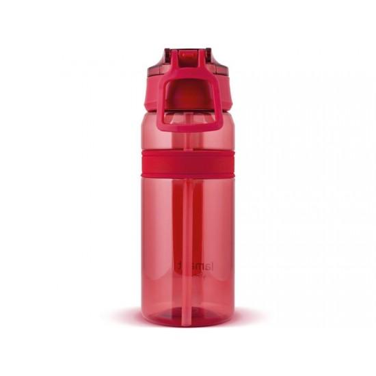 Fľaša na vodu LAMART LT4060 červená straw.