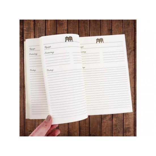 Kniha na recepty s vareškou ORION WINTER CITY zlatá