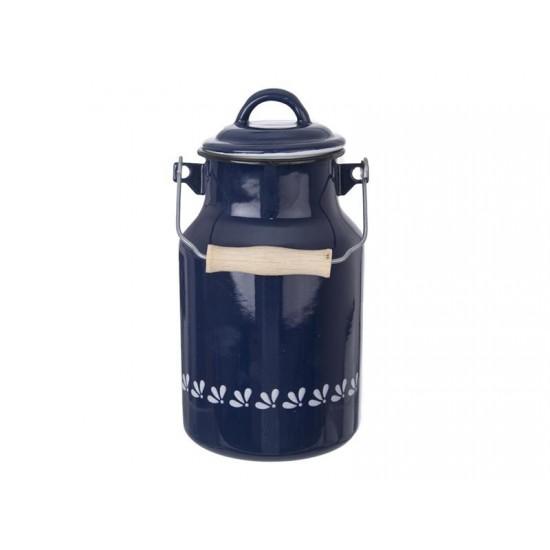 Kanvica na mlieko ORION modrotlač smalt 2L