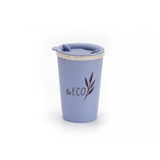 Kelímok s viečkom G21 beECO Espresso 280ml modrý