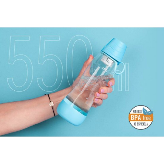 Fľaša na vodu TEESA PURE WATER modrá TSA0120-B