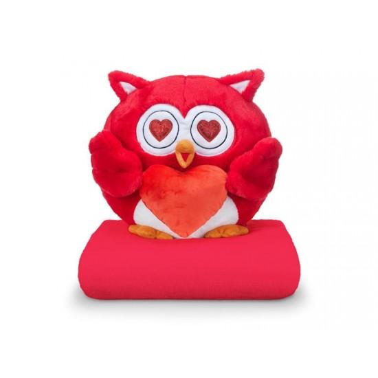 DORMEO EMOTION Zamilovaná sova malá červená 3v1
