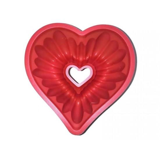 Silikónová forma na bábovku srdce 4L