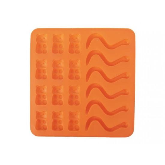 Forma na pečenie ORION Figúrky silikón oranžová