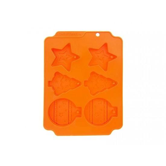 Forma na pečenie ORION Vianoce silikón oranžová