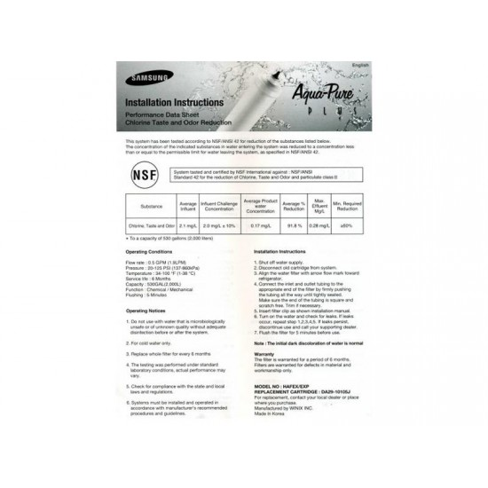 Filter do chladničky vodný SAMSUNG DA29-10105J (HAFEX EXP) originálny
