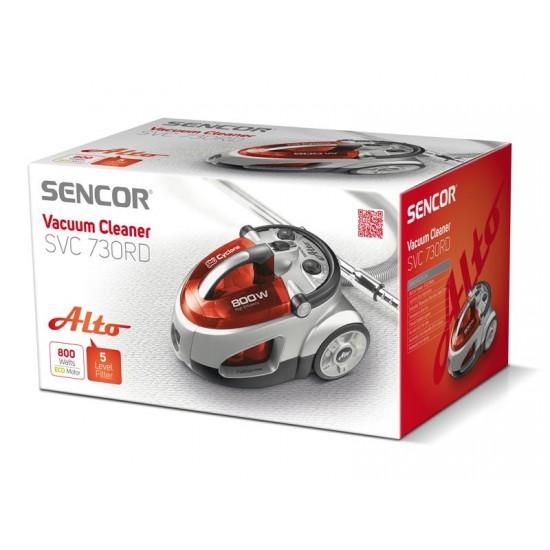 Vysávač SENCOR SVC 730RD-EUE2 bezvreckový