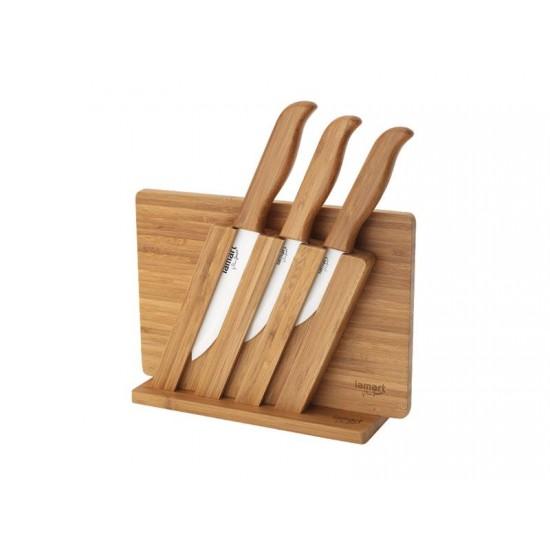 Sada nožov LAMART LT2056 KERA BAMBOO + lopárik