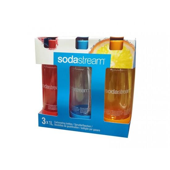 Sodastream fľaša TriPack 1L Orange Red Blue