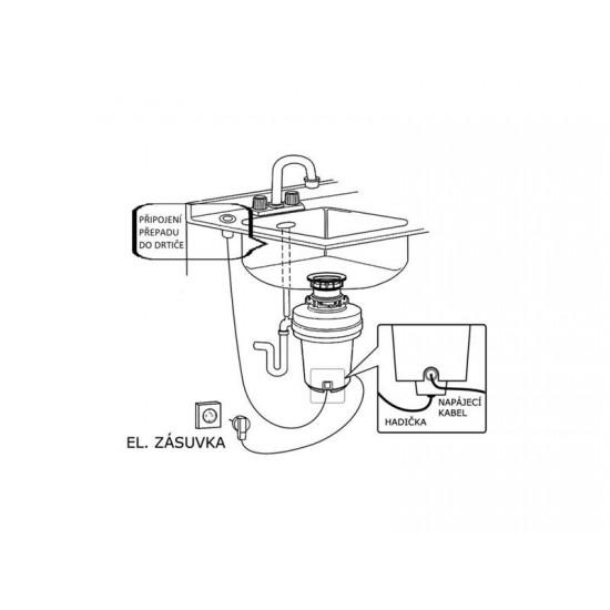 Drvič kuchynského odpadu EcoMaster - Hadička pre pneu-spínač 001010083