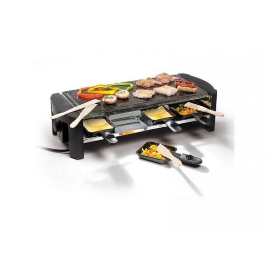 Gril DOMO z prírodného kameňe Raclette DO 9039 G pre 8 ľudí