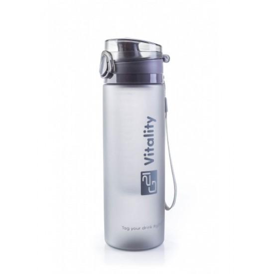 Fľaša G21 SMOOTHIE 650ml šedá - zmrznutá