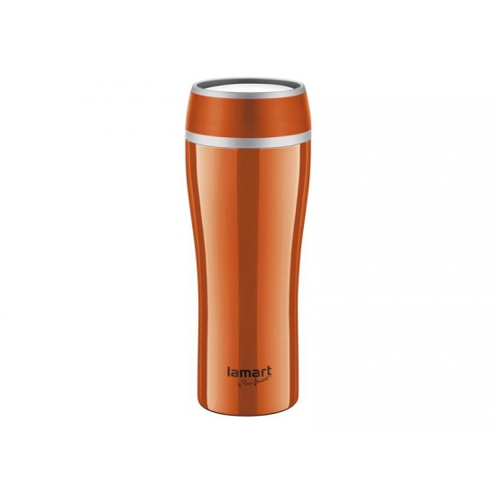 Termohrnček LAMART LT4026 0,4L FLAC oranžový