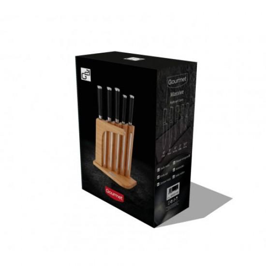 Sada nožov G21 GOURMET MASSIVE 5ks + bambusový blok