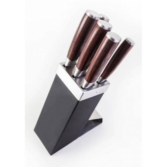 Sada nožov G21 GOURMET DYNAMIC 5ks + čierno-nerezový blok